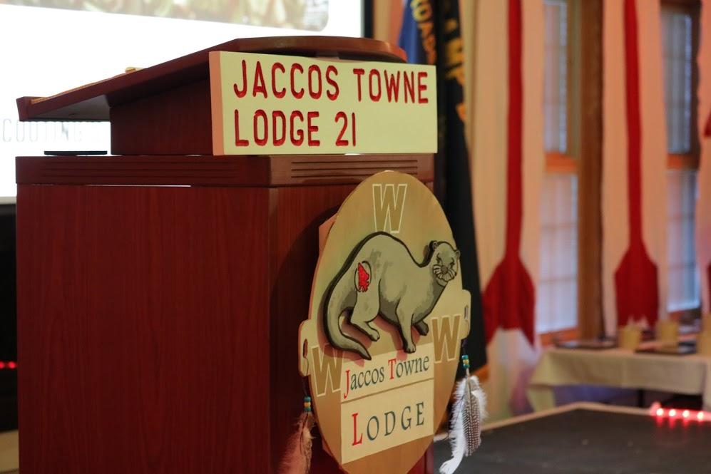 winter banquet podium