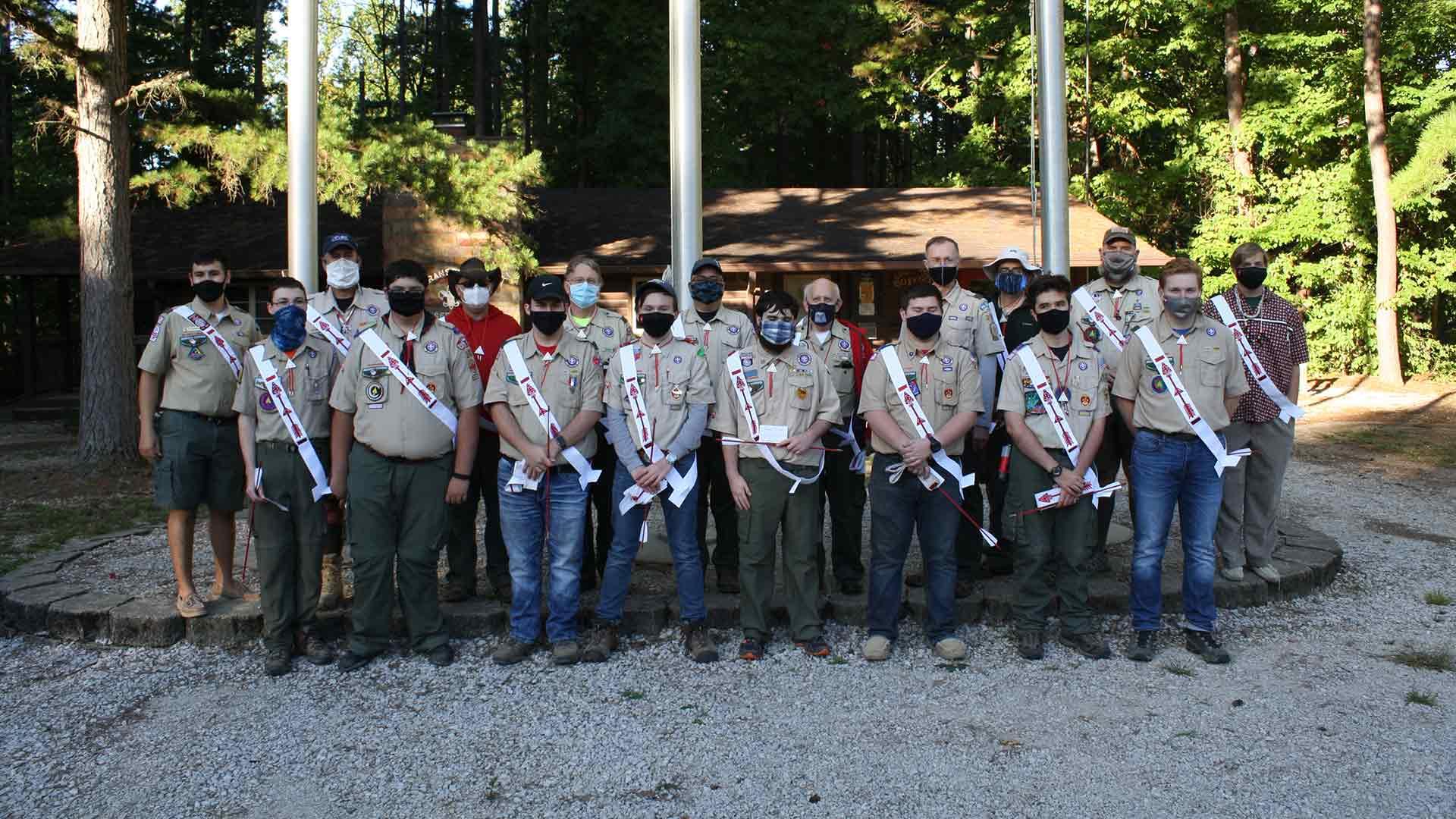 new Vigil members of Jaccos Towne Lodge