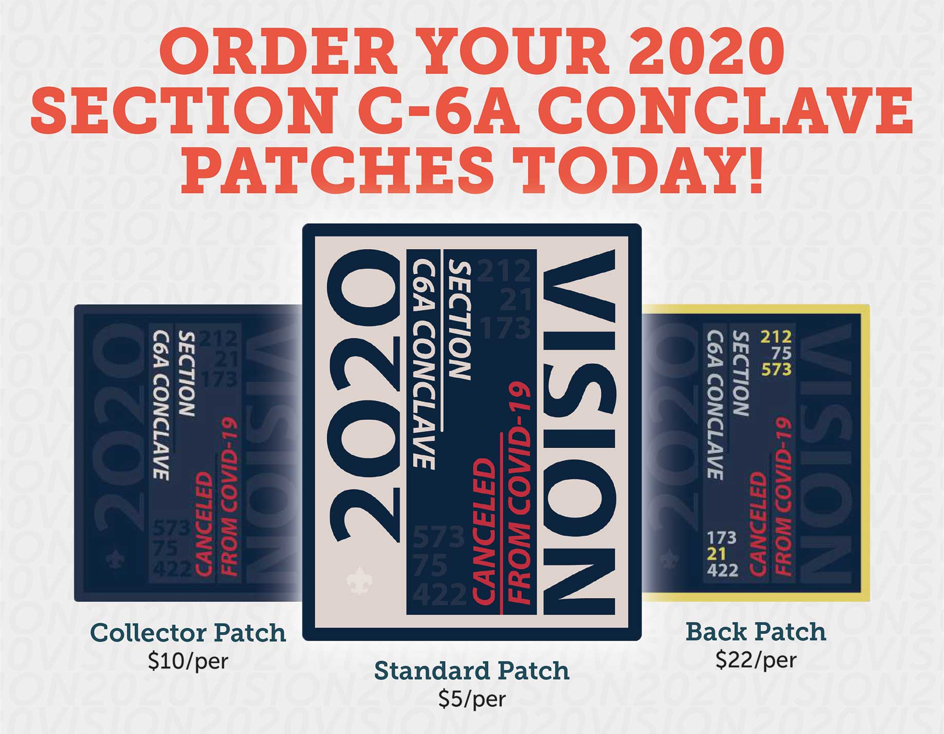 2020 Section C6A Conclave Patches