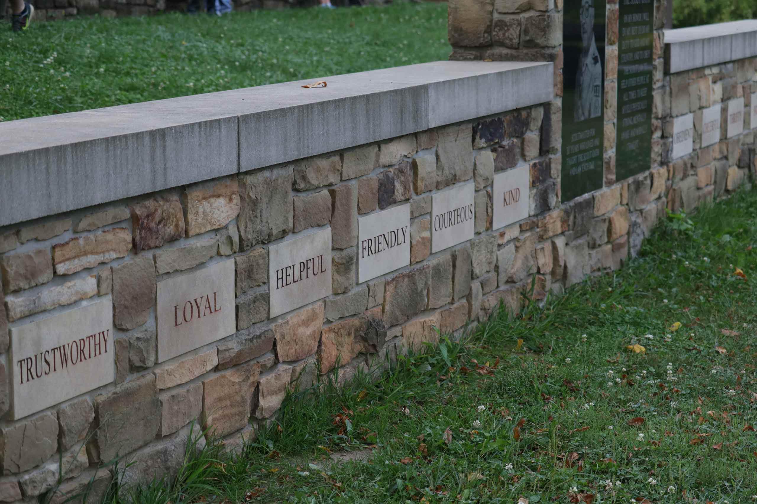 wall at Camp Kikthawenund