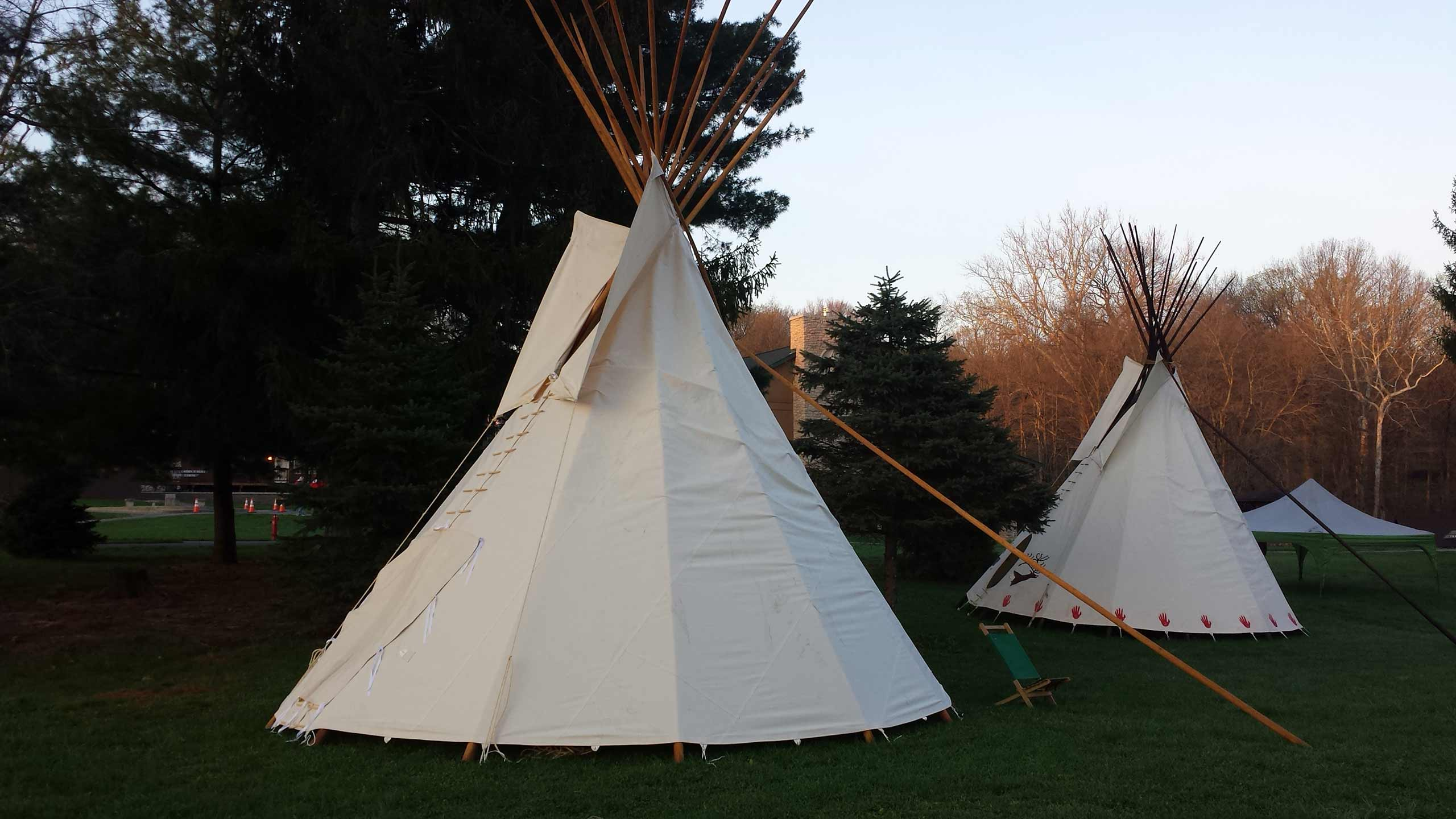 teepees at Camp Belzer